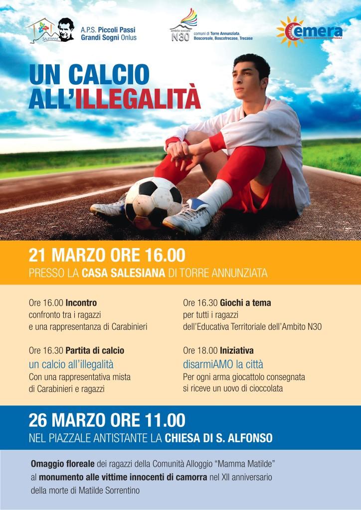 un calcio all'illegalità